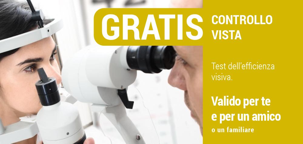 Controllo della vista GRATIS, Centro Ottici associati